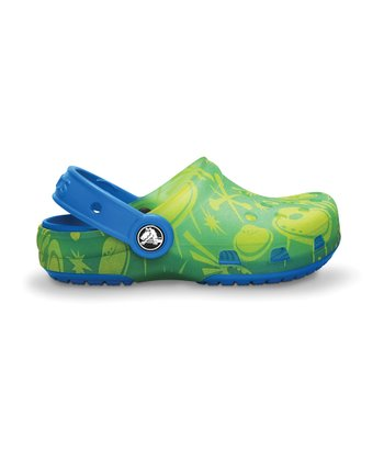 Citrus & Ocean Chameleon Space Graphic Clog