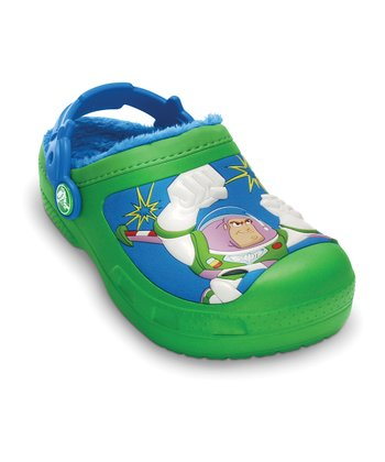 Crocs Lime & Ocean Woody & Buzz™ Lined Clog