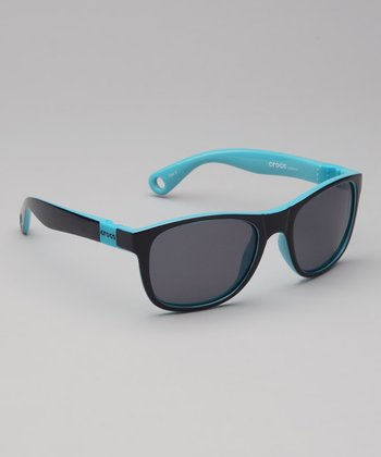 Navy & Electric Blue Size 3 Polarized Sunglasses - Women