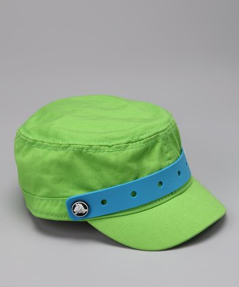 Green Jibbitz Military Cap - Kids