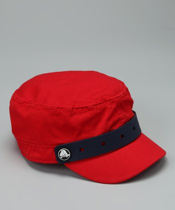 Red Jibbitz Military Cap - Kids