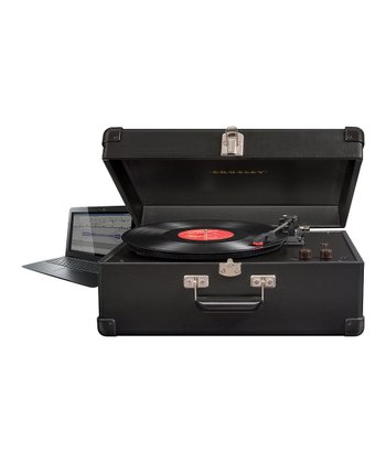 Black Deluxe Keepsake USB Turntable