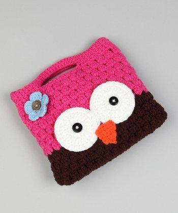 Pink & Brown Owl Purse
