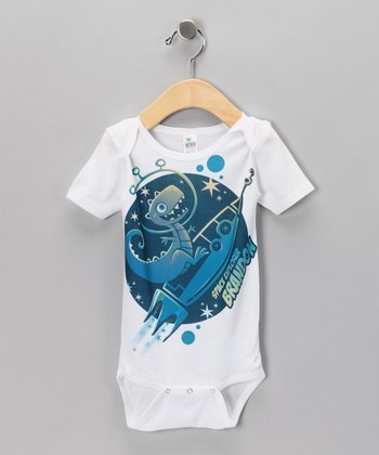 White 'Space Explorer' Personalized Bodysuit - Infant