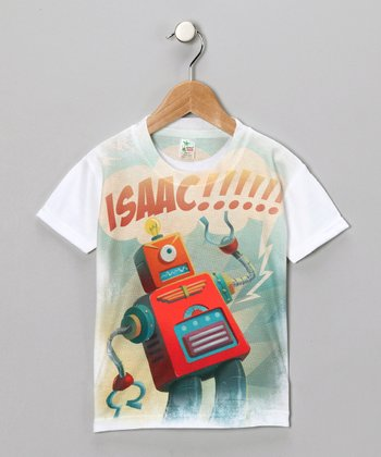 White Idea Bot Personalized Tee - Infant, Toddler & Kids