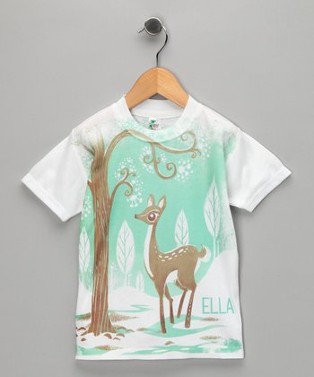 White Deer Personalized Tee - Infant, Toddler & Kids