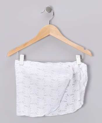 White Lace Sarong - Toddler & Girls