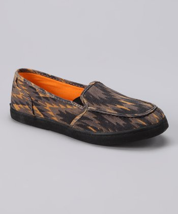 Brown Tribal Slip-On Shoe