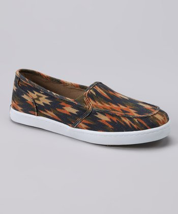 Orange Tribal Slip-On Shoe