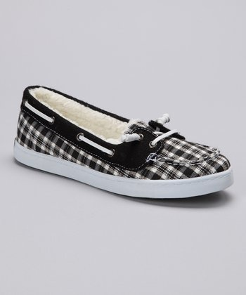 Black & White Oceanside Boat Shoe