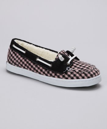 Pink & Black Oceanside Boat Shoe
