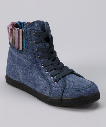 Blue Petutie Ankle Boot