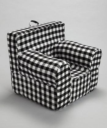 Black & White Gingham Chair