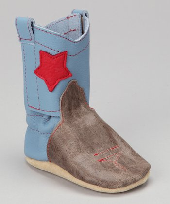 Blue Rodeo Star Leather Boots