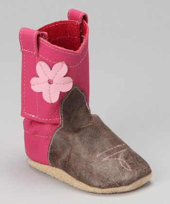 Pink Manic Cowgirl Leather Boots
