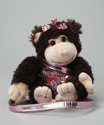 Monkey Sequin Plush Purse