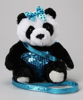Panda Sequin Plush Purse