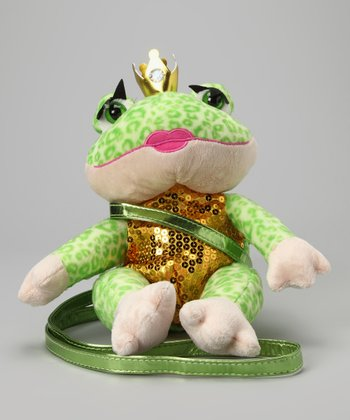 Light Green Frog Sequin Plush Purse