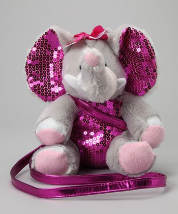 Elephant Sequin Plush Purse