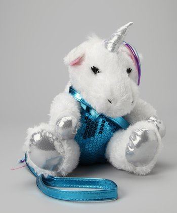 Unicorn Sequin Plush Purse