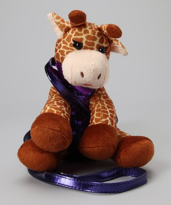 Giraffe Sequin Plush Purse