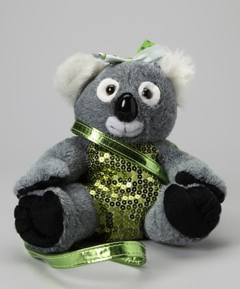 Koala Sequin Plush Purse