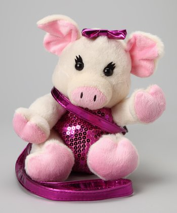 Pig Sequin Plush Purse