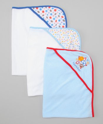 Blue All Star Hooded Towel Set