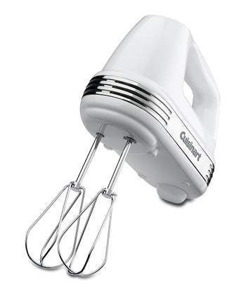 White Five-Speed Power Advantage Hand Mixer