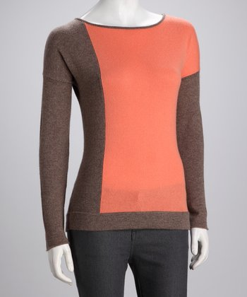 Cullen Fur Color Block Cashmere Top