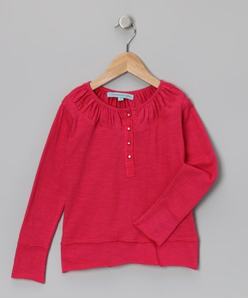 Fushia Long-Sleeve Top - Infant, Toddler & Girls