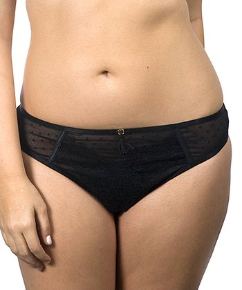 Black Cabaret Lace Thong - Women & Plus