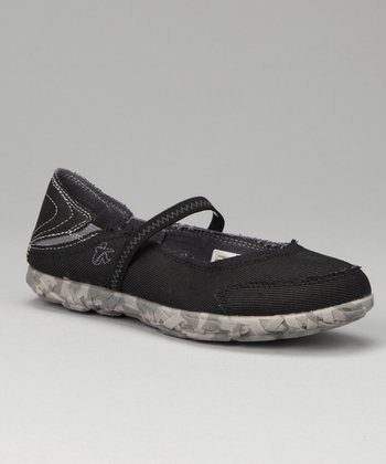 Black W MJ Slipper Flat - Women