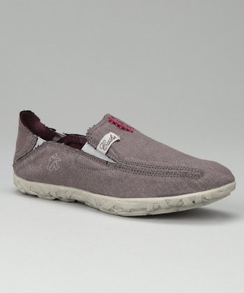 Gray Metallic Slip-On Shoe - Women