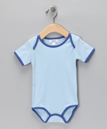 Blue Contrast Bodysuit - Infant