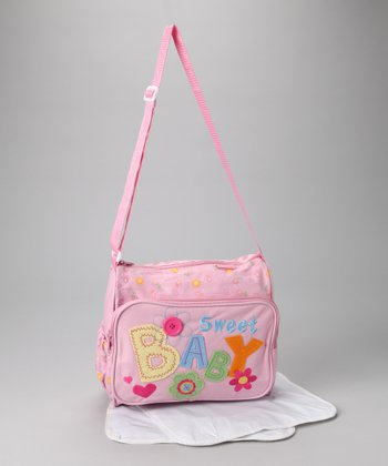 Pink 'Sweet Baby' Diaper Bag