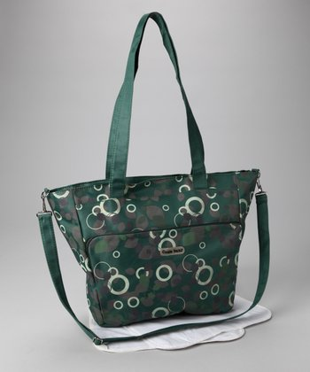 Green Circles & Leaves Diaper Bag