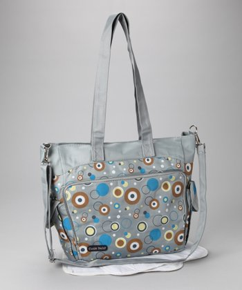 Blue & Brown Circles Diaper Bag
