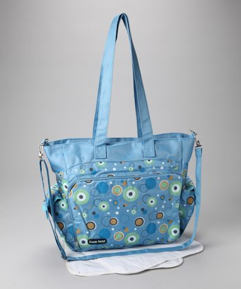 Blue & Green Circles Diaper Bag