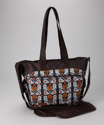 Brown & Orange Diaper Bag