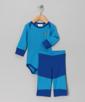 Oceanography Organic Bodysuit & Pants - Infant