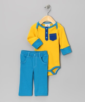 Road Trip-Ready Organic Bodysuit & Pants - Infant
