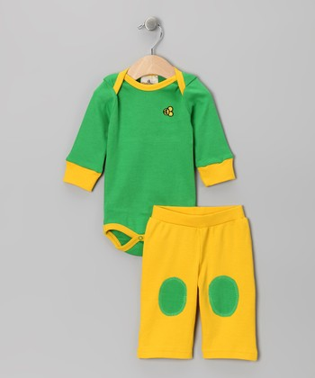 Jump for Jelly Beans Organic Bodysuit & Pants - Infant