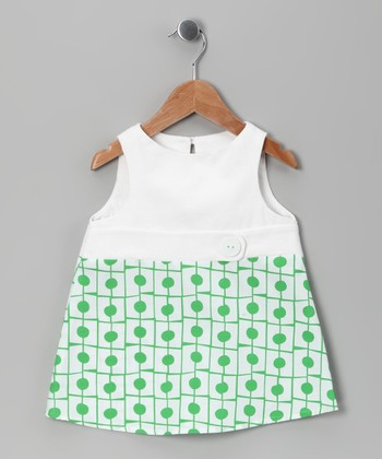 Green Retro Dress - Infant