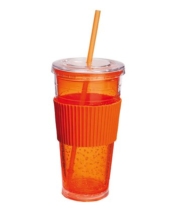 Orange Freezable 20-Oz. Insulated Tumbler