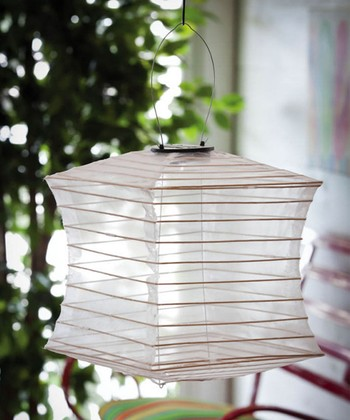 White Collapsible Square Lantern