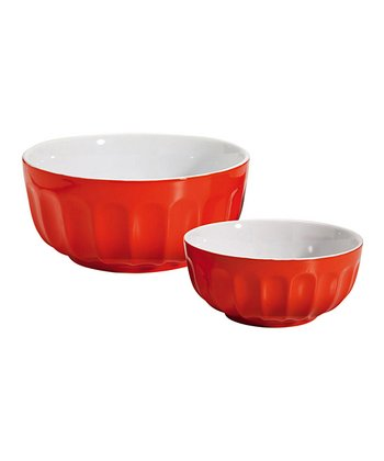 Orange Nested Bowl Set