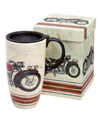 Motorcycle Madness 17-Oz. Travel Mug & Gift Box