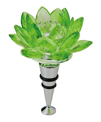 Green Lotus Wine Stopper