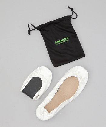 White Bendable Ballet Flat